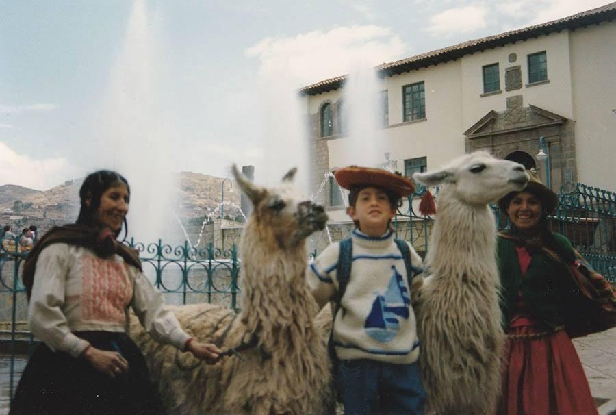 photo du fondateur jg à Cusco en 1994 - pitumarka