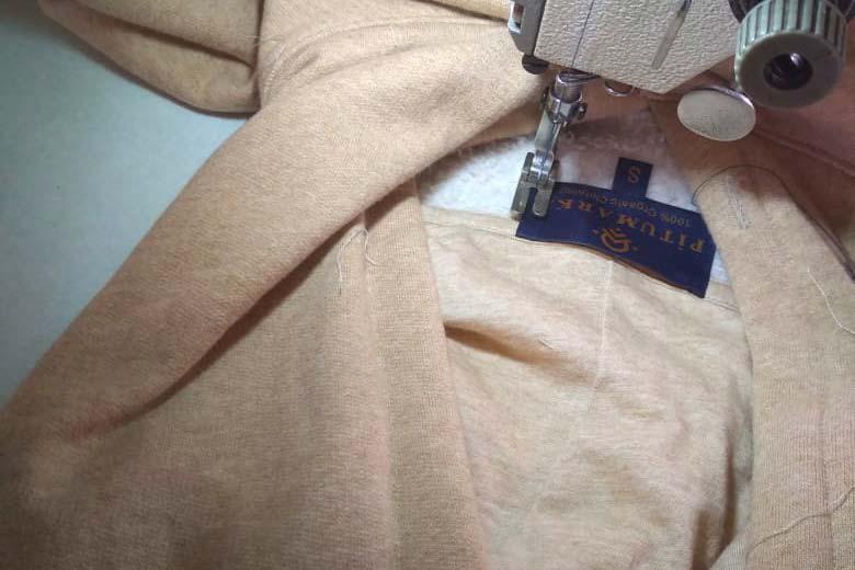 confection du sweat à capuche alpamayo en coton bio pitumarka